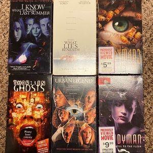 VHS Horror Movie Lot of 6